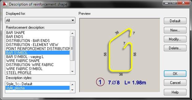 AutoCAD Structural Detailing - надписване на армировка
